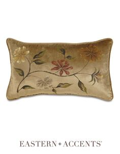 Gabrielle Collection Hand-Painted Decorative Pillow
