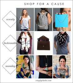 $300 Giveaway For A CAUSE - Enter to WIN $100 to Sevenly, $100 to Noonday Collection and $100 to FashionABLE.