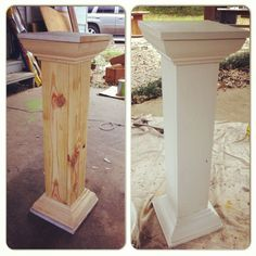 AS tall as we want just drop sand bags in the columns for stability Built these wedding columns.when you can't find just want you want! Wedding Aisle Outdoor, Diy Outdoor Weddings, Wedding Ceremony, Wedding Church, Church Ceremony, Chapel Wedding, How To Make Diy, How To Make Light, Wedding Pillars