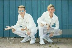 Pop singers Marcus & Martinus pose for a portrait session before honouring Crown Princess Victoria on the ocassion of her birthday at Victoriagarden on July 2017 in Borgholm, Sweden. Get premium, high resolution news photos at Getty Images I Go Crazy, Love U Forever, Just For Men, Creative Video, Pop Singers, Stock Pictures, Portrait, Image Now, Image Collection
