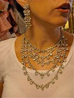 UNBELIEVABLE 1950s Weiss rhinestone bib necklace and by melsvanity, $598.00
