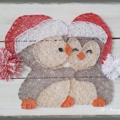 Cuddle Penguins - String Art