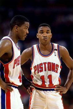One of the greatest back courts in the history of basketball Joe Dumars and Isiah Thomas