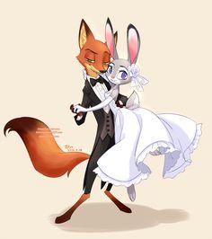Nick and Judy's wedding day