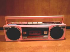 vintage pink panasonic stereo boombox radio cassette recorder tape player fm15 from $34.74