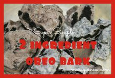 2 Ingredient Oreo Bark @mercyisnew.com  So simple and so delicious...such an easy snack to take to holiday parties!