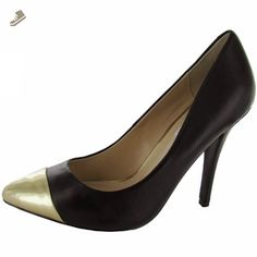 Steve Madden Womens 'Ilussion' Pump Shoe, Black/Gold, US 8.5 - Steve madden pumps for women (*Amazon Partner-Link)