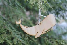 Laser cut wooden whale ornament personalization by joellefelyce