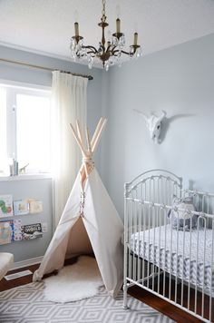 Our favorite teepees for the nursery or kids room - we love that they inspire creativity and play!