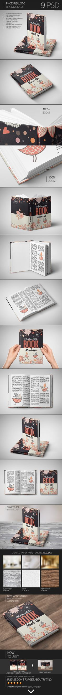 Photorealistic Book Mock-Up by Eugene Smith, via Behance