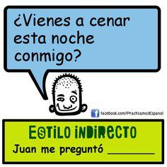 Estilo indirecto Learning Spanish, Grammar, School, Ideas Para, Spanish, Indirect Speech, Learn Spanish, Spanish Classroom, Learning