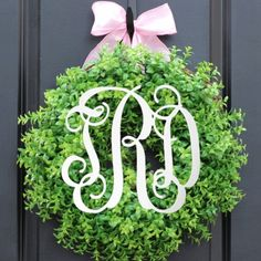 "3 Letter Script 18"" Wood Wall Monogram....for above the bed in LRK"