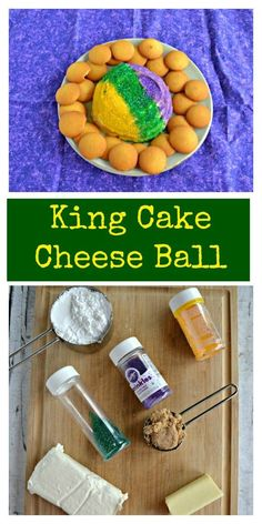 Looking for a great Mardi Gras treat ready in less then 10 minutes? Try my sweet and colorful King Cake Cheese Ball!