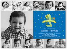 Baby Boy First Birthday Invitations 1st Invites