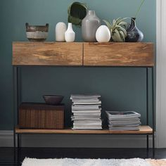 West Elm Rustic Storage Console, Raw Mango - Accent Tables - Coffee Tables - Side Tables - End Tables
