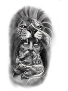 Half Sleeve Tattoo Stencils, Half Sleeve Tattoos Designs, Full Sleeve Tattoos, Zeus Tattoo, Statue Tattoo, Tattoo Ink, Arm Tattoo, Scary Tattoos, Face Tattoos