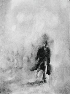 Charcoal studies, Alessandra Hogan