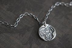 SUMMER SALE Flower Pendant Charm Necklace Sterling Silver