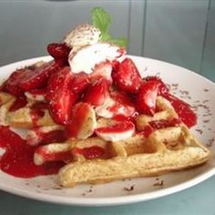 """Cornmeal Waffles 