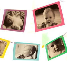 DIY Photo Banner, Birthday Banner, 1st Birthday Photo Banner. $15.00, via Etsy.