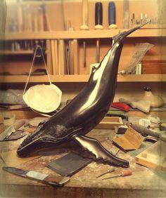 Humpback Whale. Sculptural study by Neil Parkin