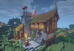 Minecraft House Plans, Minecraft Cottage, Minecraft House Tutorials, Cute Minecraft Houses, Minecraft City, Minecraft House Designs, Minecraft Construction, Amazing Minecraft, Minecraft Blueprints