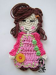 Ravelry: Sweet girl applique pattern by Vendula Maderska