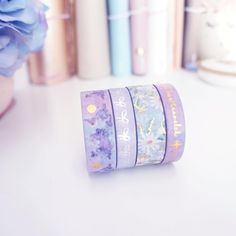 I'm a little late for -- the lighting wasn't great today but I have a little sneak of the washi that will be going into the… Stationary Store, Stationary Supplies, Stationary School, Cute Stationary, Art Supplies, Washi Tape Crafts, Washi Tapes, Cute School Supplies, Sticky Notes
