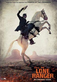 'El llanero solitario': Armie Hammer y su caballo rampante, en el nuevo póster