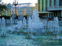 French Quater New Orleans Water Fountain:SaundraMylesart