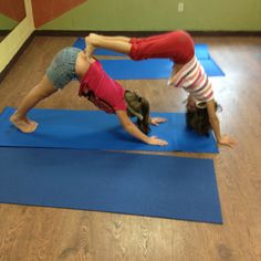 Kids In My Yoga Class Doing Double Dog