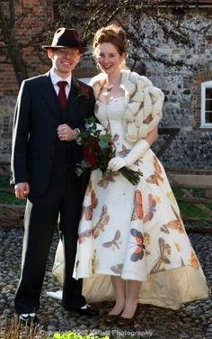 Kellett Photography has some great pictures up from a recent wedding where the bride wore the most amazing butterfly-emblazoned wedding gown. Not only is the dress stunning, but Madeline paired it ...