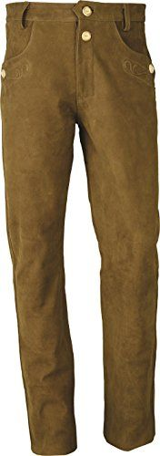 #Trachten #Lederhose #lang #Herren-Damen- #Hochwertige #Trachtenhose #Leder…