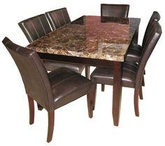 Todayu0027s Feature Furniture  7pc Marble Dinette Set   On Sale $659.99 Puritan  Furniture  CT.u0027s Largest Furniture Store | Dining U0026 Entertaining |  Pinterest ...