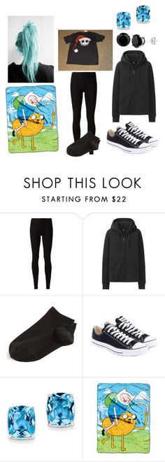 """""""going to look at Christmas lights"""" by newmotionlessjinxxgamer ❤ liked on Polyvore featuring moda, Rick Owens Lilies, Uniqlo, Wolford, Converse, Kevin Jewelers ve The Northwest Company"""