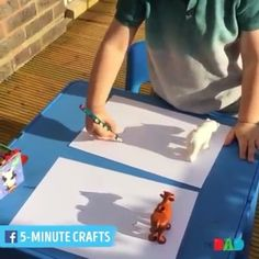 Dollar Store Crafter: Use Dollar Store Toys As 'shadow templates' ~ Kid'. Dollar Store Crafter: Use Dollar Store Toys As 'shadow templates' ~ Kid'.,School Dollar Store Crafter: Use Dollar Store Toys As 'shadow templates' ~ Kid'. Kids Crafts, Toddler Crafts, Projects For Kids, Diy For Kids, Art Projects, Summer Crafts, Toddler Learning Activities, Preschool Activities, Outdoor Activities For Kids
