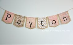 Custom Personalized Burlap Banner from Kylies Chic Boutique on etsy https://www.etsy.com/shop/KyliesChicBoutique?ref=si_shop