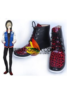 Anime YURI!! on ICE Yuri Victor Canvas Shoes Sneakers women Athletic shoes Z.58