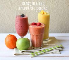 For creating smoothie snack packs to grab and go.
