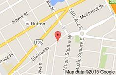 Map of THE CATBIRD SEAT  Nashville