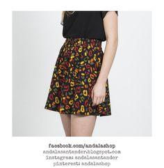Falda print animal. Cintúra elástica 100% poliéster 26.90 €