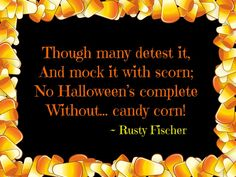 Without candy corn...