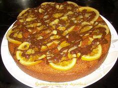 Πορτοκαλόπιτα νηστίσιμη, χωρίς φύλλο - cretangastronomy.gr Egg Free Desserts, Healthy Deserts, Recipe Boards, How To Make Cake, Cake Recipes, Pizza, Cooking Recipes, Sweets, Vegan