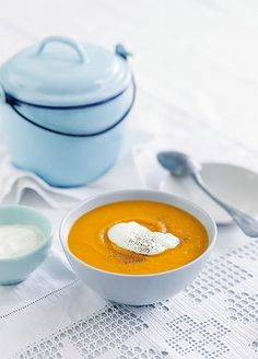 Michelle Bridges pumpkin soup. Cooked a batch last week and it's deliciously creamy without the cream! Healthy winter soup to warm up the soul :)