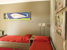 Kids shared bedroom... This layout would allow lots of floor area