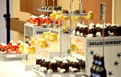 Dallas Cowboy Dessert Table at a Dallas Cowboy Themed Party Hosted by A Special Touch Event Planning