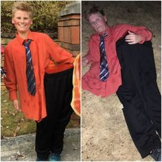 Man Cut in Half Costume: 8 Steps (with Pictures) Man Cut in Half Costume: This costume is a major hit because the boy in the picture is
