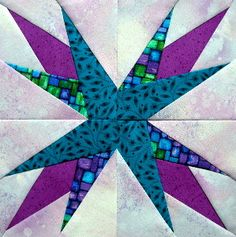 Introduction to paper piecing from Carol Doak...I've been wanting to try paper piecing & this looks like the perfect block