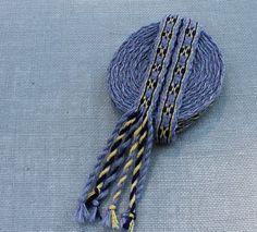 Tablet Woven Trim Tablet Weaving Card Weaving Medieval by inkleing, $45.00