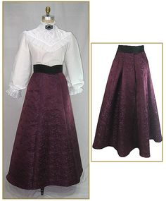 Image detail for -Victorian & Edwardian Clothing for Women & Men - 407-plum-brocade ...